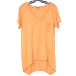 Lilla P Womens Tee Pima Cotton Orange Medium F2